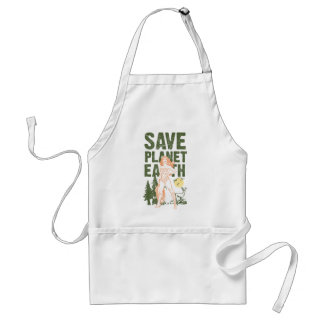 Wonder Woman Save Planet Earth Standard Apron