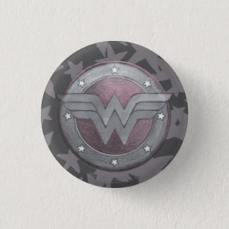 Wonder Woman Shield Pattern 3 Cm Round Badge