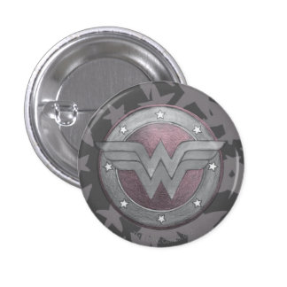 Wonder Woman Shield Pattern 3 Cm Round Badge