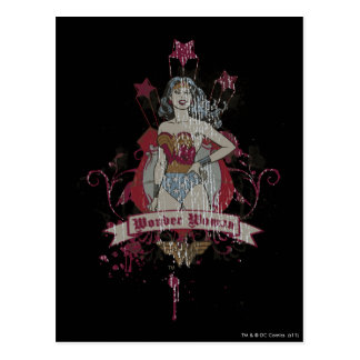Wonder Woman Shooting Stars Postcard