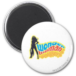 Wonder Woman Silhouette 6 Cm Round Magnet