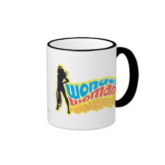 Wonder Woman Silhouette Ringer Mug