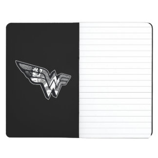 Wonder Woman Sitting In Angled Lace Logo Journal