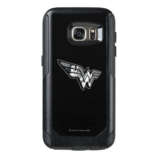 Wonder Woman Sitting In Angled Lace Logo OtterBox Samsung Galaxy S7 Case