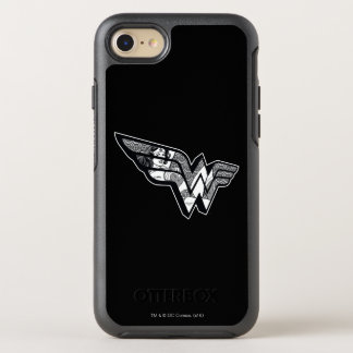 Wonder Woman Sitting In Angled Lace Logo OtterBox Symmetry iPhone 8/7 Case