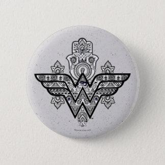 Wonder Woman Spiritual Paisley Hamsa Logo 6 Cm Round Badge