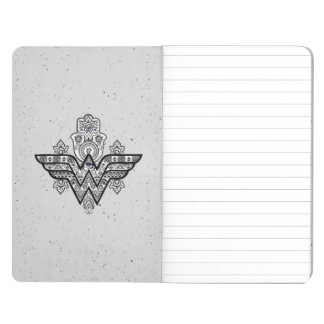 Wonder Woman Spiritual Paisley Hamsa Logo Journal