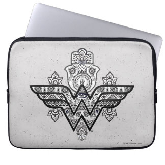 Wonder Woman Spiritual Paisley Hamsa Logo Laptop Sleeve