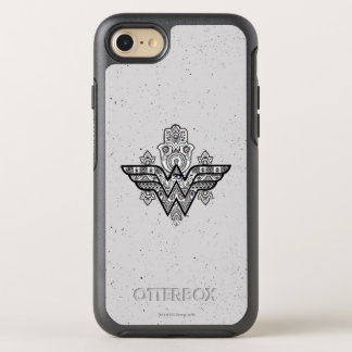 Wonder Woman Spiritual Paisley Hamsa Logo OtterBox Symmetry iPhone 8/7 Case