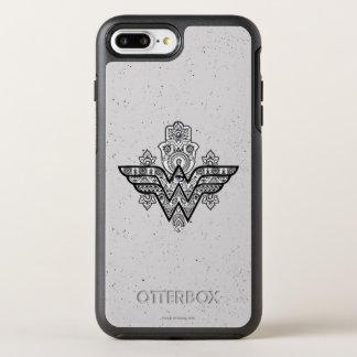 Wonder Woman Spiritual Paisley Hamsa Logo OtterBox Symmetry iPhone 8 Plus/7 Plus Case