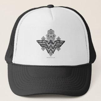 Wonder Woman Spiritual Paisley Hamsa Logo Trucker Hat