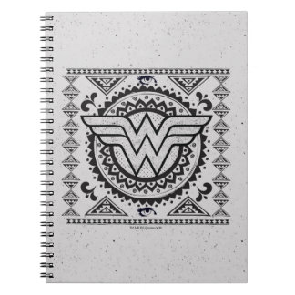 Wonder Woman Spiritual Tribal Design Spiral Notebook