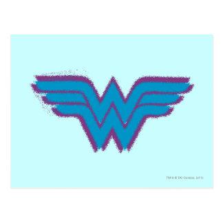 Wonder Woman Spray Paint Logo Postcard