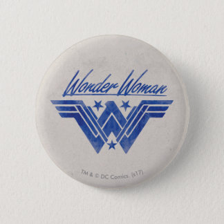 Wonder Woman Stacked Stars Symbol 6 Cm Round Badge