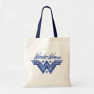 Wonder Woman Stacked Stars Symbol Tote Bag