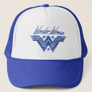 Wonder Woman Stacked Stars Symbol Trucker Hat