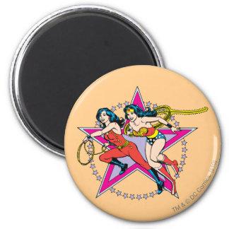 Wonder Woman Star Background Magnet