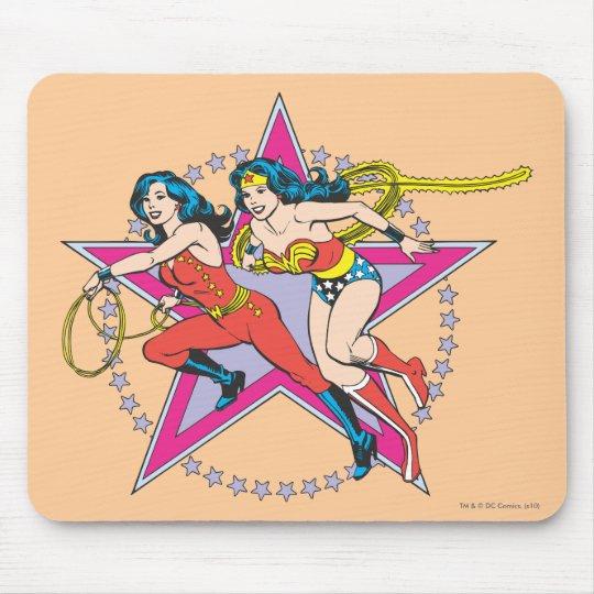 Wonder Woman Star Background Mouse Mat