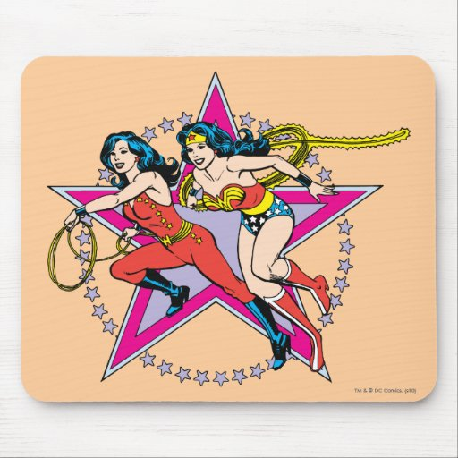 Wonder Woman Star Background Mouse Pad
