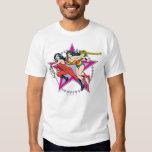 Wonder Woman Star Background Tshirts