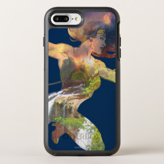 Wonder Woman Sunset Waterfall Silhouette OtterBox Symmetry iPhone 8 Plus/7 Plus Case