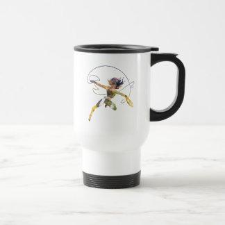 Wonder Woman Sunset Waterfall Silhouette Travel Mug