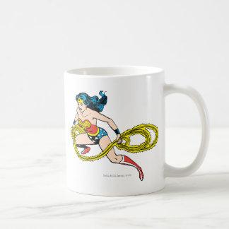 Wonder Woman Swinging Lasso Left Basic White Mug