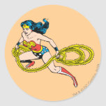 Wonder Woman Swinging Lasso Left Sticker
