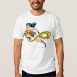 Wonder Woman Swinging Lasso Left Tee Shirt