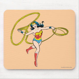 Wonder Woman Swinging Lasso Mouse Mat