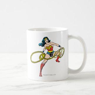 Wonder Woman Swinging Lasso Right Coffee Mug