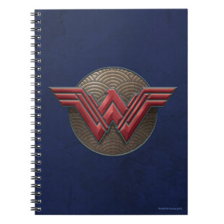 Wonder Woman Symbol Over Concentric Circles Notebook