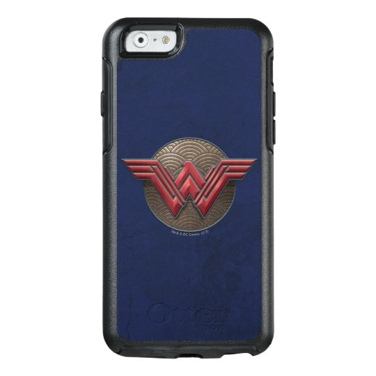Wonder Woman Symbol Over Concentric Circles OtterBox iPhone