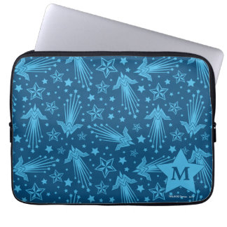Wonder Woman Symbol Pattern | Monogram Laptop Sleeve