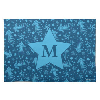 Wonder Woman Symbol Pattern | Monogram Placemat