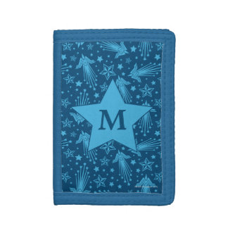 Wonder Woman Symbol Pattern | Monogram Trifold Wallet