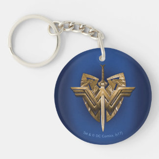 Wonder Woman Symbol With Sword of Justice Key Ring