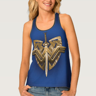 Wonder Woman Symbol With Sword of Justice Tank Top