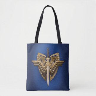 Wonder Woman Symbol With Sword of Justice Tote Bag