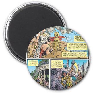 Wonder Woman Themyscira 6 Cm Round Magnet