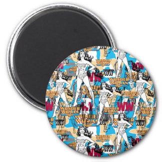 Wonder Woman Toss Pattern 6 Cm Round Magnet