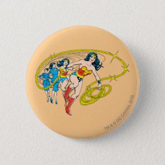 Wonder Woman Transform 6 Cm Round Badge