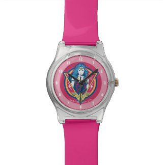 Wonder Woman Tri-Color Graphic Template Watch