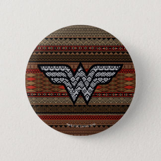 Wonder Woman Tribal Pattern 6 Cm Round Badge