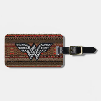 Wonder Woman Tribal Pattern Luggage Tag