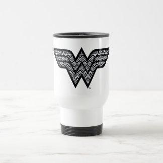 Wonder Woman Tribal Pattern Travel Mug