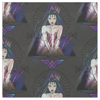 Wonder Woman Tribal Triangle Fabric
