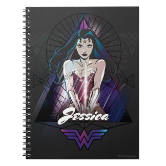 Wonder Woman Tribal Triangle Spiral Note Books
