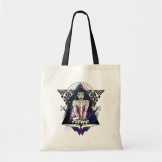 Wonder Woman Tribal Triangle Tote Bag