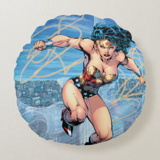 Wonder Woman Trinity Comic Cover #16 Round Cushion
